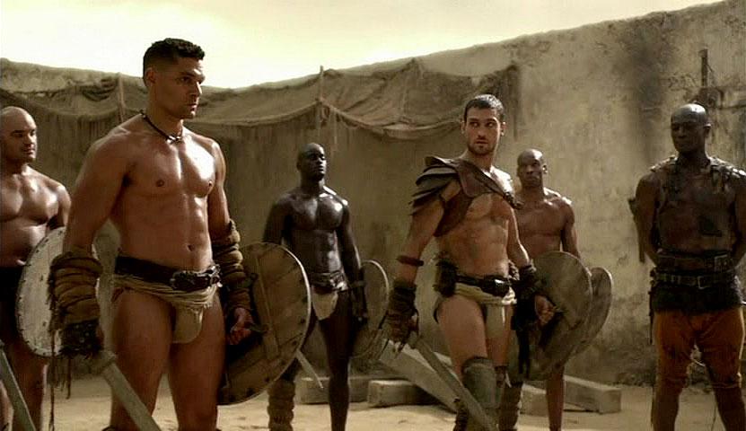 Spartacus Crixus Theokoles Crixus And Spartacus Are