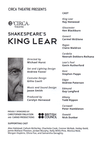 a bleak of hope in king lear a play by william shakespeare Written by william shakespeare directed by michael hurst cast : supporting cast well, it's not for the faint hearted, that's for sure lear drags us across some very bleak ground, and just when we think we might have arrived reviews of king lear radionz.